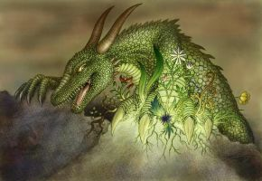 Dragon of ground and nature by VixenDra