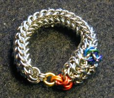 Handcrafted Chain Mail Dragon Ring by chainmailmd