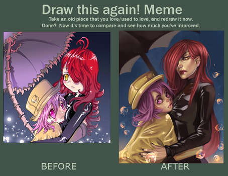 draw this again meme by raspbearyart