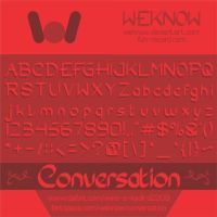 conversation font by weknow by weknow