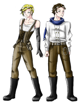 Deryn amd Alek - Steampunk by akatsukicloud227