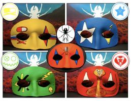 Leather MCR masks by maskedzone