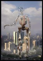A robot in town. by mdesplanteurs