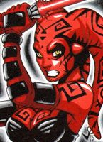 Sketch Card - Darth Talon comm by gb2k