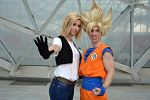 Goku cosplay and C18 by Alexcloudsquall
