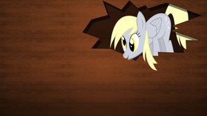 Derpy Wooden Wallpaper by Bluuper
