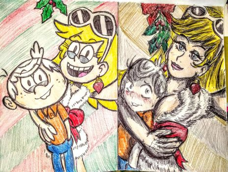 The Loud House - Mistletoe Leni selfie by pikapika212