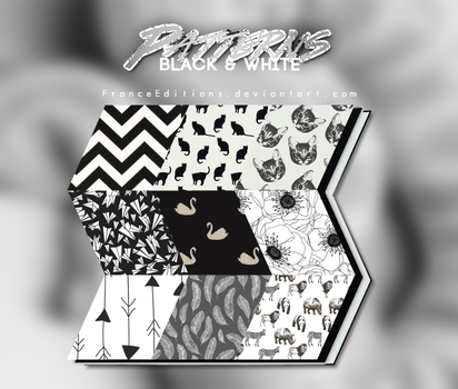 Black and White // 13 PATTERNS by FranceEditions