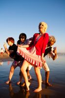 Cosplay Beach Fun by BertLePhoto