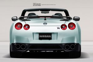 Nissan GTR Convertible - Rear View by YogaBudiwCUSTOM