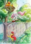 ACEO trade: Apple Bloom and Celestia by asphagnum
