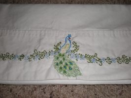 Peacock Pillow Cases by FleurChung