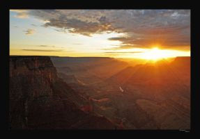 Sunset at the Grand Canyon by Jenngee