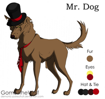 Mr. Dog Character Ref by Demonic-Pokeyfruit