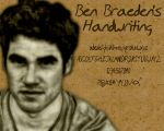 Ben's Handwriting by TheGeminiSage