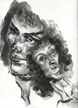 Brian and Freddie in Ink by ChloeC