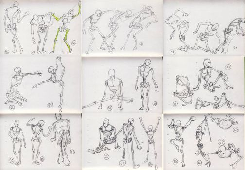 1000 anatomy sketches challenge: 43 - 68 by Xrxlxs