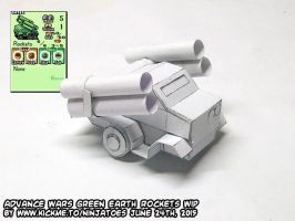 WIP: papercraft Advance Wars Rockets by ninjatoespapercraft
