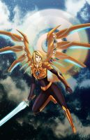 Commission - Aether Wing Kayle by ikeda