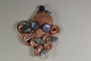 Steampunk Octopus Pendant by CephalopodCreations