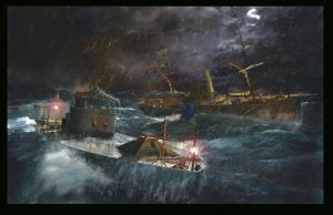 Sinking of the USS Monitor by graught