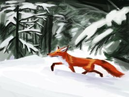A Fox in the Woods by TheDonQuixotic