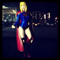 Supergirl patrols the night by PMiow