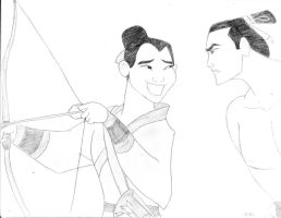 Mulan and Shang by BryThatDrawingGuy