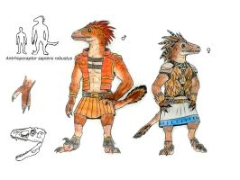 Anthroporaptor sapiens robustus by ZeWqt