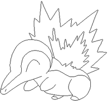 Cyndaquill lines by Sulfura