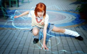 Mikoto's Lightning by ayatouch