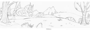 Land scape Cartoon line art 2 by celaoxxx
