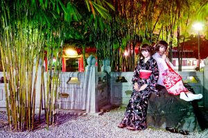 Yukata - Night by Xeno-Photography