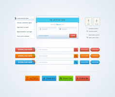 Nice and clean Web Elements by ionuss