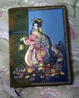 Refillable Geisha Sketchbook or Journal Cover by Ihaveprobs