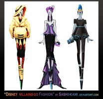 Disney villains go fashion III by Sashiiko-Anti