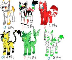 Adoptables Batch 1 by Steampunk-Stopwatch