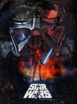 Star Wars Retro Style Poster by jdesigns79