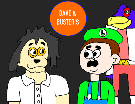 Kyouji Meeting Falco Lombardi and Luigi at D and B by MikeEddyAdmirer89