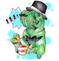 Gentlemen dinosaur offers you tea by Baitti