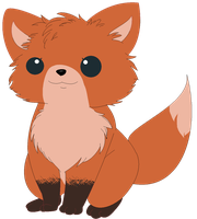 Baby Fox by Blood-Charm