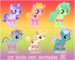 MLP Filly/Colt ADOPTABLES :SOLD OUT: by DisfiguredStick