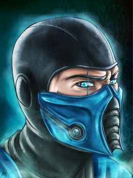 Sub-Zero Fan Art by MauroIllustrator