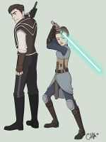 Atton and the Jedi Exile by suelita