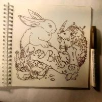 Instaart - Hedgehog and Rabbit by Candra