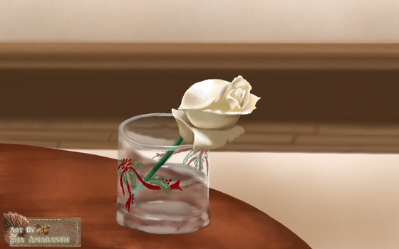 Speed Painting of My Rose by SilverGateForest