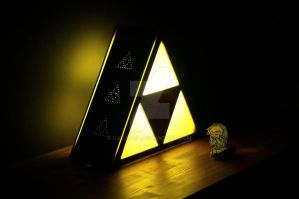 The Legend Of Zelda Triforce Lamp By Ericmarge by LavaPop
