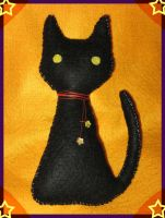Black Cat Halloween Plushie by Evergreen-Willow