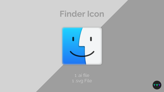Finder Icon Vector (.ai, .svg) by TheTechnoToast