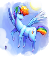 The future's as bright as a rainbow! by Corpsecrow
